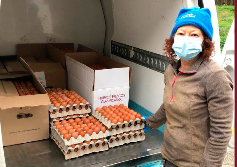 Ecopitas Producción Ecológica colabora con la Cocina Económica